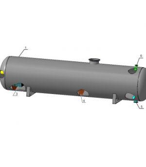 Сепаратор газовый горизонтальный
