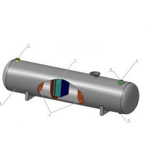 Сепаратор нефтегазовый с блоком насадок СНГК